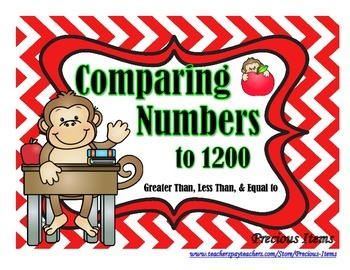Comparing Numbers to 1200 Activity Cards