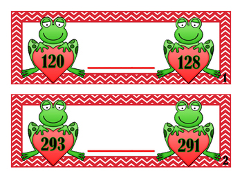 Comparing Numbers to 1200 - Frogs - Activity Cards