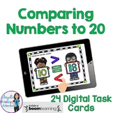 Comparing Numbers to 20 Digital Task Cards BOOM CARDS