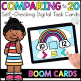 Comparing Numbers to 20 Digital Task Cards | Boom Cards™ |