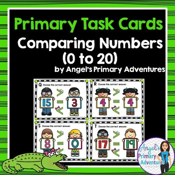 Comparing Numbers to 20 Task Cards