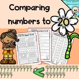 Comparing Numbers to 20 (greater than, less than)