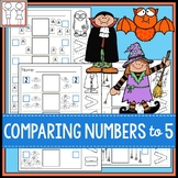Comparing Numbers to 5 Worksheets