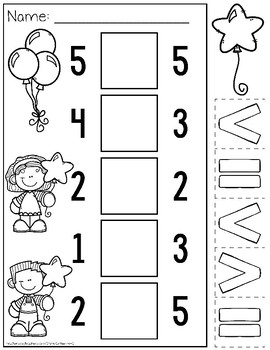 Comparing Numbers to 5 Kindergarten by Catherine S | TpT