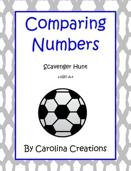 Comparing Numbers to Hundreds Scavenger Hunt - 2.NBT.A.4