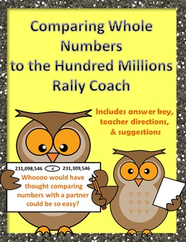 Comparing Whole Numbers to the Hundred Millions Rally Coach