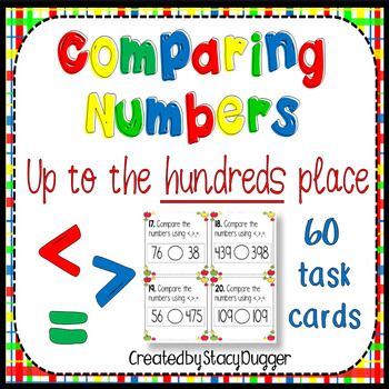 Comparing Numbers to the Hundreds Place Task Cards