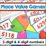 Place Value Games Comparing Three Digit and Four Digit Numbers