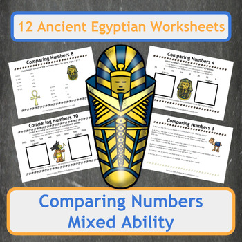 Comparing Numbers with Ancient Egyptian Themed Word Problems