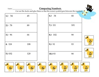 Comparing Numbers with Ducks and Apples