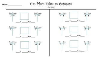 Comparing Numbers with Place Value
