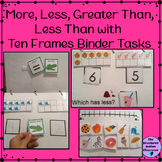 Comparing Numbers with Ten Frames Binder set for Autism an