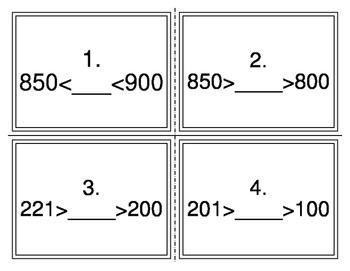 Comparing Numbers with Two Signs Task Cards