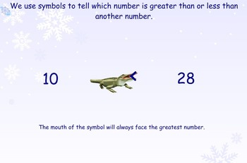 Comparing Numbers with a Winter Theme
