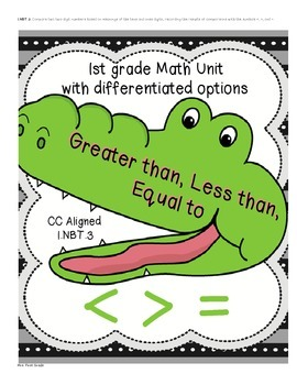Comparing Numbers with < > = greater than less than equal to 1.NBT.3