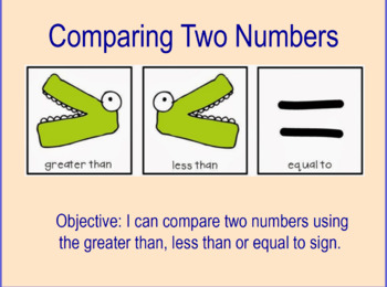 Comparing Numbers with >, < or =