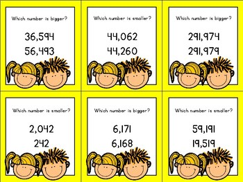 Comparing Numbers (within 1 million) Timber Blocks