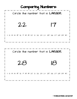 Comparing Numbers (within 10 all the way to within 100)