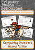 Cowboy Themed Comparing Numbers Worksheets