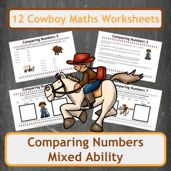 Comparing Numbers with Cowboy Themed Word Problems