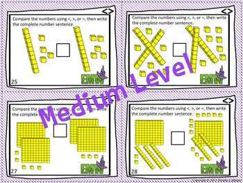Greater Than Less Than Comparing Numbers Task Cards Differentiated! (2.NBT.4)