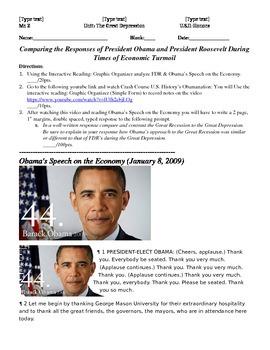 Comparing Obama & FDR's Approach to Economic Turmoil