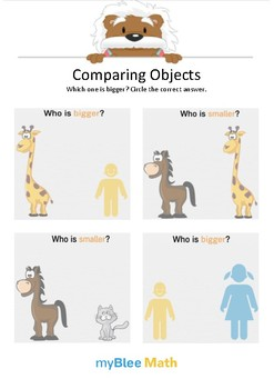 Comparing Objects 1 - Which one is bigger? - Gr K