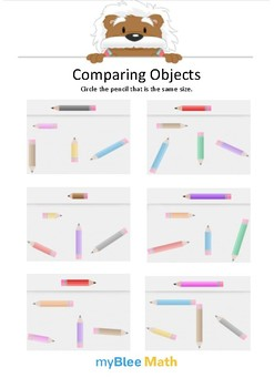 Comparing Objects 3 - Circle the pencil - Gr K