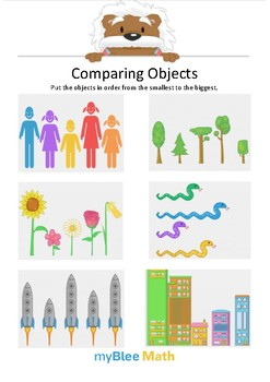 Comparing Objects 5 - Put the objects in order - Gr 1