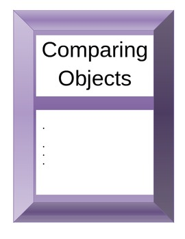 Comparing Objects Activity Packet with assessment rubric