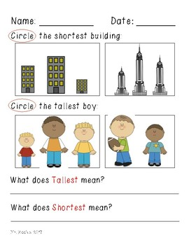 Comparing Objects- Non Standard Measurement