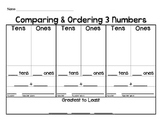 Comparing & Ordering 3 Numbers Mat