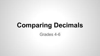 Comparing & Ordering Decimals