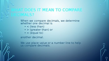 Comparing & Ordering Decimals PowerPoint