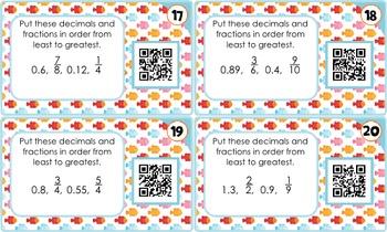Comparing & Ordering Decimals QR Code Fun - 4.NF.C.7
