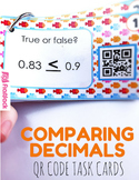 Comparing & Ordering Decimals QR Code Fun - 4.NF.C.7