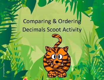 Comparing Decimals and Ordering Decimals Scoot Activity/Task Cards