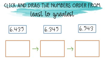 Comparing & Ordering Decimals Task Cards