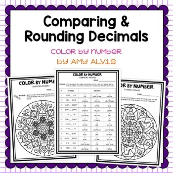 Comparing Rounding Decimals Winter Color by Code