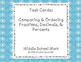 Comparing & Ordering Fractions, Decimals, and Percents Tas