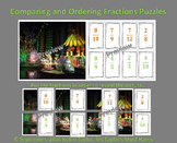 Comparing & Ordering Fractions Puzzles (with unlike denominators) 4.3D