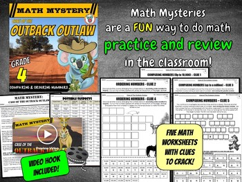 Comparing & Ordering Large Numbers (Up to Ten Million) Math Mystery Activity