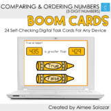 Comparing & Ordering Numbers (3-Digit) / Digital Task Card