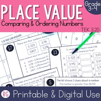 Comparing & Ordering Numbers Activities