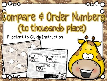 Comparing & Ordering Numbers Flipchart