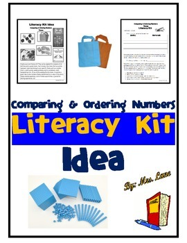 Comparing & Ordering Numbers Literacy Kit Idea