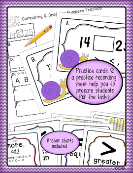 Comparing & Ordering Numbers Math Review Activity for First & Second Grade