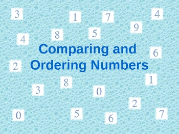 Comparing & Ordering Numbers Power Point