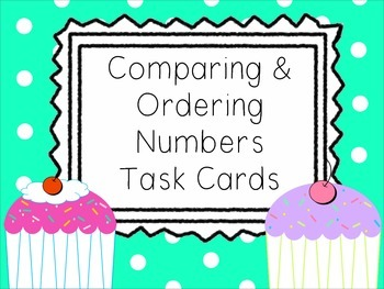 Comparing & Ordering Numbers Task Card Challenge