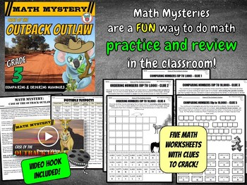 Comparing & Ordering Numbers (up to 10,000) - Math Mystery
